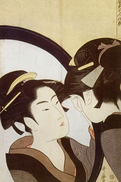 398px-Kitagawa_Utamaro_-_Beauty_at_her_toilet