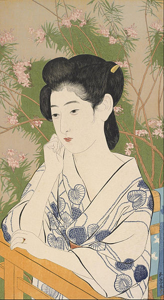 Hashiguchi_Goyo_-_Woman_at_a_Hot_Spring_Hotel_-_Google_Art_Project
