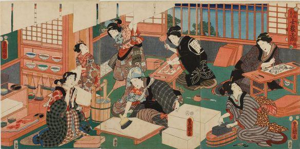 triptych by Utagawa Kunisada process of ukiyo-e making