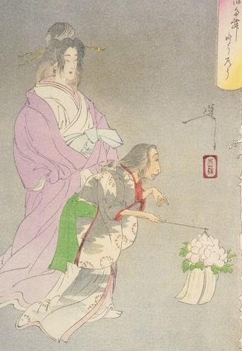 ukiyoe ghost story peaony lantern two ghost with a lantern